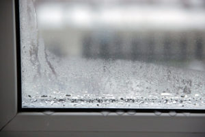 Condensation on the window glass