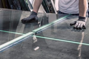 Glass Installer Cutting Planes of Glass